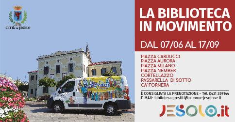 librobus prestito itinerante gratuito di libri - Jesolo, 2021